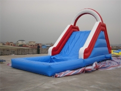 Tobogán acuático tropical inflable