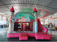 Ultimate Inflable Cinderella Jumping Castle con diapositiva