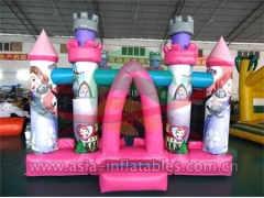 Personalizado Party Inflatable Pink Cartoon Mini Bouncer