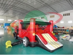Military Inflatable Obstacle Inflatable Mini Mobile Car Bouncer For Kids