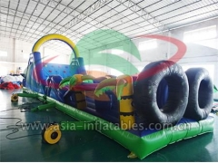 Outdoor Sport Games Inflatable Palm Tree Obstacle For Adult Paracute Ride & Rocket Ride