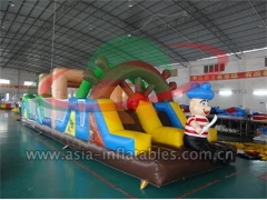 Inflatable Racing Game Inflatable Obstacle Course Games In Pirate Theme