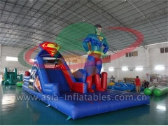 Inflatable Racing Game Outdoor Inflatable Superman challenge Obstacle Course