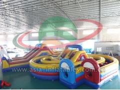 Inflatable Racing Game Inflatable Children Park Amusement Obstacle Course