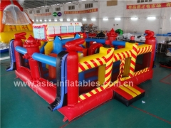 Inflatable Fire Truck Bouncer Playground Fabricantes