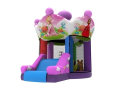 Personalizado Inflatable Pink Mini Bouncer Castle con diapositiva