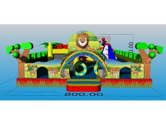 Commercial Jungle Inflatable Fun City Airpark Outdoor Fun City Proveedor Fabricantes