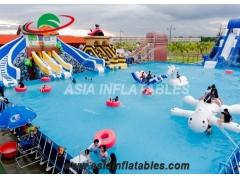 Piscina inflable del marco metálico