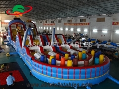 Inflatable roller coaster obstacle course