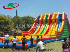 Diapositiva inflable de múltiples carriles Race