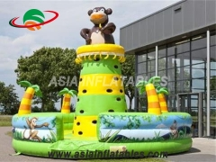 Bear Theme Inflatable Climbing Tower Inflable Hinchable Muro de escalada en venta y juegos deportivos interactivos