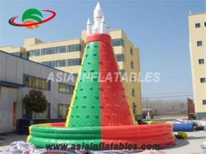 Commercial Kids Inflatable Rock Climbing Wall With Fireproof PVC Tarpaulin & Interactive Sports Games